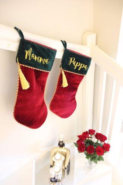 Her er julestrømpene våre avbildet hjemme hos interiørprofilen @villahavglimt