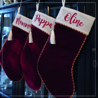 Tre julestokker med navn