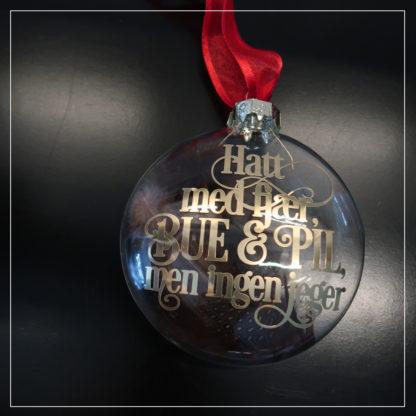 julekule med tekst fra tre nøtter til askepott