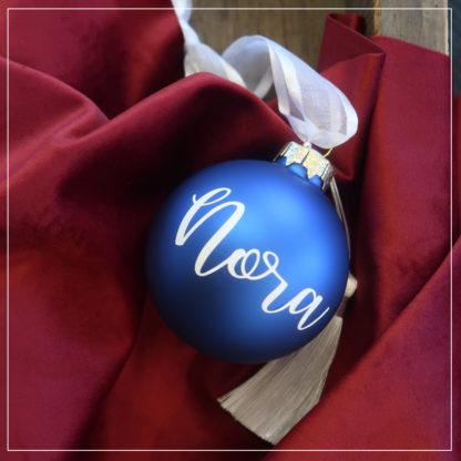 Julekule blefjell med navn