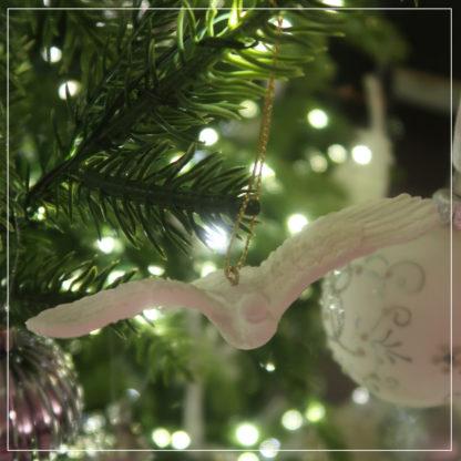 Turteldue på juletre