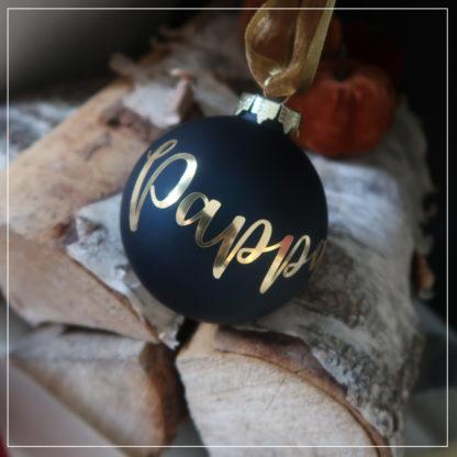Julekule med navn i gull